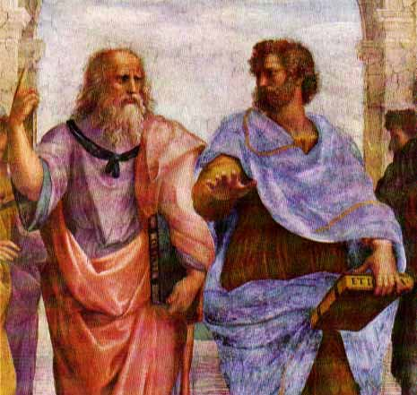 Plato and Aristotle (source)